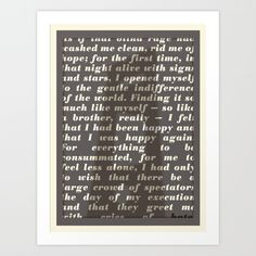 Literary Quote Poster — The Stranger by Albert Camus Art Print by Evan Beltran | Society---my fav book.
