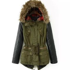 Mixed fabric parka Super warm and chic parka for this cold winter! Love the mixed fabric style and color pattern. It beautiful and soft. Alice Mode de vie Jackets & Coats
