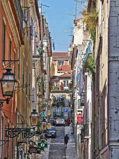 Bairro Alto street, Lisbon , Portugal