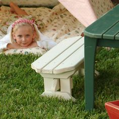 Childs Outdoor Bench from PoshTots