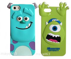3D CARTOON SULLY SULLEY MONSTERS INC CUTE SOFT CASE COVER FOR IPHONE 4 4s + 5 5S