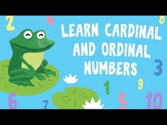 Learn ordinal numbers for kids Numbers Kindergarten, Numbers Preschool, Learning Numbers, Preschool Kindergarten, Math For Kids, Activities For Kids, Kids Learning Apps, Teaching Phonics, Teaching Resources
