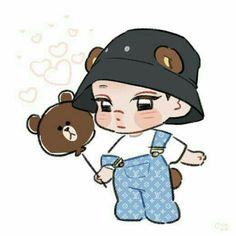Exo Kokobop, Exo Kai, Chanyeol, Exo Chen, Kyungsoo, Exo Cartoon, 5 Years With Exo, Exo Anime, Exo Merch
