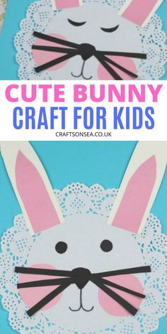Possibly the cutest rabbit craft for kids? Perfect for spring or as a sweet Easter craft for kids this cute bunny is simple to make and only costs pennies. Perfect for toddlers, preschool or older kids too! Crafts For 3 Year Olds, Spring Crafts For Kids, Rabbit Crafts, Bunny Crafts, Toddler Crafts, Preschool Crafts, Kids Crafts, Easter Activities For Kids, Spring Activities
