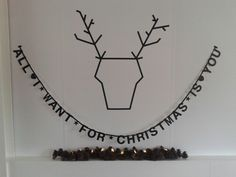 Tip: all i want for christmas is you wordbanner + masking tape rendier - Buy it at www.vanmariel.nl - € 11,95