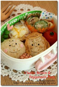 Peppermint Patty and Charlie Brown bento