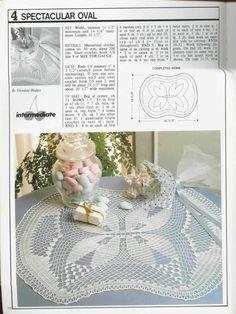 Decorative Crochet Magazines 8 - Gitte Andersen - Álbuns da web do Picasa Filet Crochet, Crochet Motif, Crochet Doilies, Crochet Lace, Crochet Stitches Patterns, Stitch Patterns, Knitting Patterns, Table Runner And Placemats, Crochet Tablecloth