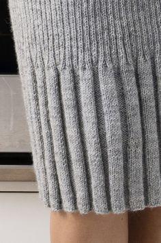 Resårstickad kjol Novita Nalle | Novita knits
