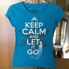 Disney Frozen Tshirt New w/o tags in brand new condition. Never worn. Turquoise color. Disney  Tops Tees - Short Sleeve