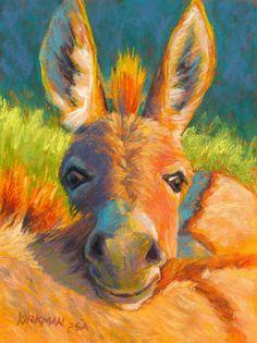 """Peek-A-Burro (III) Rita Kirkman's Daily Pastel Paintings: February 2014 SOLD 8 x 6"