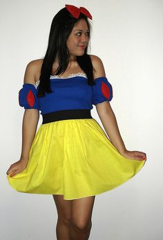 cute and simple snow white costume  sc 1 st  Pinterest : snow white costume diy  - Germanpascual.Com