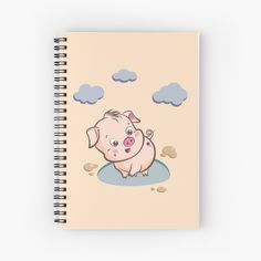 'Cute Baby Piggy' Spiral Notebook by duyvolap Spiral, Cute Babies, My Arts, Notebook, Art Prints, Printed, Awesome, Artist, People