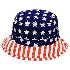 0ba608ddbd0 Amazon.com  City Hunter Bd1120 American Flag Pattern Bucket Hat  Clothing