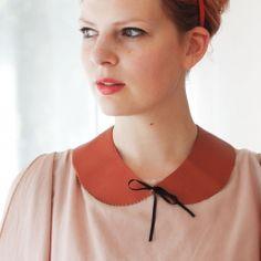 Make this lovely no sew Peter Pan Collar!
