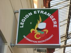 FRENCH FOREIGN LEGION RECRUITEMENT OFFICE IN THE GARE ST CHARLES...MARSEILLE...FRANCE...
