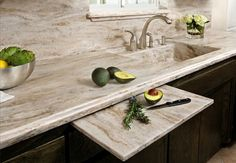 Corian® Sandalwood Kitchen traditional-