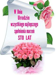 Happy New, Happy Birthday, Rose, Tableware, Motto, Poems, Humor, Polish, Birthday