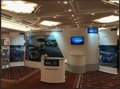 AVL's ISOframe Wave electrified the crowd at both the FPC17(Future Powertrain Conference) and the National Motorcycle Museum in the UK. Notice, the attention getting mounted monitor, classy counters, and the way the reconfigurable ISOframe wave bends to fit any environment.  Want to exhibit with this kind of power? Choose ISOframe! See www.ISOframeExhibits.com or call 800-742-6275 for more details. #tradeshow #exhibit #display # MarkBric #ISOframe #FPC17 #NMMUK
