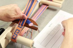 These are behind the scenes photos from the video shoot for Tablet Weaving Made Easy with John Mullarkey.