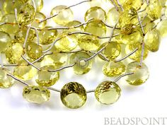 Natural '' NO TREATMENT'' Lemon Topaz Small Micro by Beadspoint, $29.95