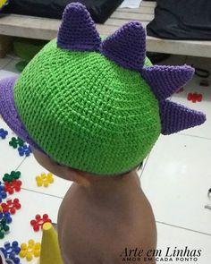 De vez em quando ele quer ser um dinossauro ☺💗💗Sometimes he wants to be a dinossaur☺💗💗.#crochê #crochet #crocheting #chapeudecrochê #adoro #artesanato  #handmade