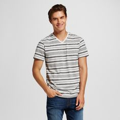 Men's V-Neck T-Shirt Cast Iron Gray Xxl - Mossimo Supply Co.