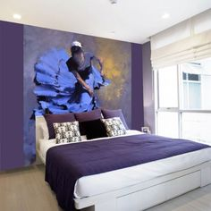 Fotobehang Blue Flamingo Dancer Drawing Reference Poses, Flamingo, Evo, Elegant, Luxury, Walls, Design Ideas, Homes, Inspiration