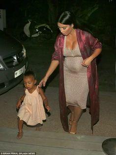 North West & Kim Kardashian-West in a pic