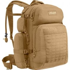 Hiking Gear. CamelBak Coyote Brown BFM 100 oz / 3L Antidote Long.  Shoulder harness and back panel provide better load distribution and comfort while carrying a heavy load. Multiple drink tube exit port—for routing drink tube over the shoulder or under an arm 4 zippers on main compartment allow for multiple access points to gear. GET YOURS TODAY AT TRAIL ENDEAVORS. www.trailendeavors.com