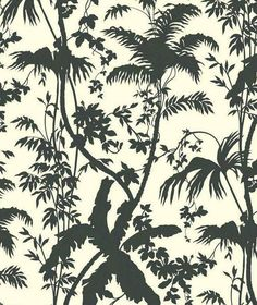 Black and White Tropical Leaf Forest Modern by WallpaperYourWorld, $6.49