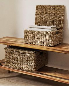 NATURAL FIBRE BASKET Zara Home, Fibre, Nature, Furniture, Home Decor, Baskets, United States, America, United Kingdom