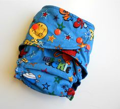 cartoons on cloth diapers! too cute love it!