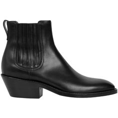 Givenchy Leather Rider Chelsea boots (625 CAD) ❤ liked on Polyvore featuring men's fashion, men's shoes, men's boots, nero, mens black leather boots, mens leather ankle boots, mens black chelsea boots, mens black ankle boots and givenchy mens shoes