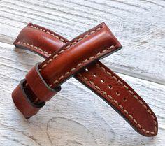 Make to order maroon leather watch strap от VladislavKostetskyi