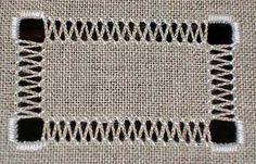Bordados Tópico Drawn: Trabalho zig-zags