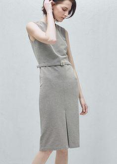 Robe coton ceinture - Robes pour Femme | MANGO France