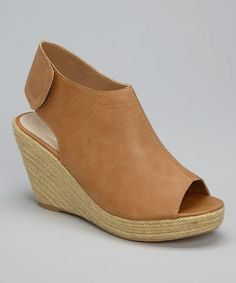 This Camel Peep-Toe Bootie by Scala Shoes is perfect! #zulilyfinds