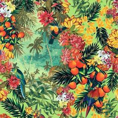 ❤️❤️❤️ This is GORGEOUS! Can a fabric be designed like this?... tropical... ball skirt ❤️❤️❤️