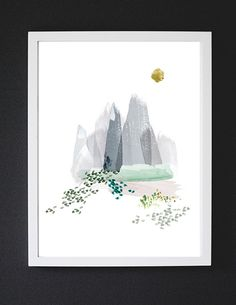 Sky High - Watercolor Art Print