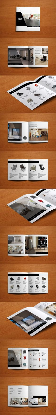 Minimal Interior Design Catalog Catalog Brochure Template by AbraDesign. Graphic Design Brochure, Brochure Layout, Branding Design, Logo Design, Brochure Template, Web Design, Layout Design, Design Editorial, Editorial Layout