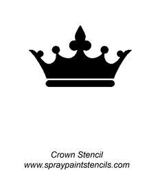 crown for freezer paper stencil Crown Silhouette, Black Silhouette, Crown Stencil, Crown Clip Art, Crown Images, Crown Tattoo Design, Phone Decals, Stencil Patterns, Tattoo Stencils