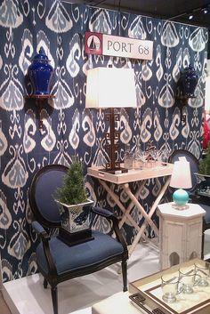 Indigo Blue Fabrics and Ikat Designs by Posh Living, LLC, via Flickr