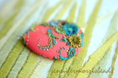 electric coral festival large and lovely by jennifermorrisbeads