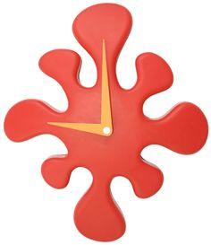 LumiSource Mini Splat Clock in Red