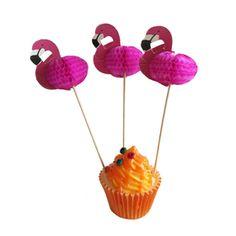 Flamingo Toothpicks, Cocktail Picks, Food Picks Wedding Cupcake Toppers, Wedding Cupcakes, Wedding Favors, Wedding Invitations, Wedding Decorations, Party Drinks, Cocktails, Luau Theme, Quirky Wedding