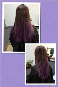 Oh man, I think this looks really pretty. Purple is my favorite color. My hair i Underlights Hair, Hairstyles For School, Straight Hairstyles, Hair Images, Hairstyle Images, Rainbow Hair, Hair Hacks, Hair Tips, School Hairstyles
