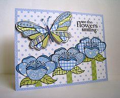 cute flowers & butterfly card