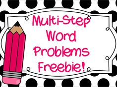 FREE! Multi step word problems using multiplication and division. Great practice!
