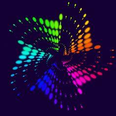 """Rainbow Star Wave"" by Misha Tsankashvili Optical Illusion Gif, Cool Optical Illusions, Illusion Art, Illusion Paintings, Live Wallpaper Iphone, Love Wallpaper, Rainbow Star, Rainbow Colors, Symmetry Design"