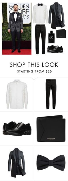 """Untitled #53"" by darklady03 ❤ liked on Polyvore featuring Corneliani, Yves Saint Laurent, Stacy Adams, Michael Kors, MANGO MAN, Giorgio Armani, men's fashion and menswear"